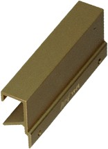 Engineered Products (EPCO) DP46B - Extruded Handle, Centers 3in, Satin Brass Anodized Aluminum, Aluminum Architectural Pull
