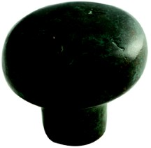 "Cast Bronze Mountain Knob 1-5/8"" Dia Verde Imperiale Schaub 773-VI"