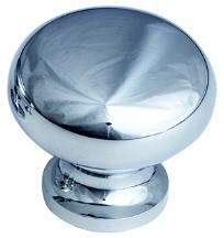 """Traditional Designs Knob 1-1/4"""" Dia Polished Chrome Schaub 706-26"""