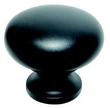 "Traditional Designs Knob 1-1/4"" Dia Flat Black Schaub 706-FB"