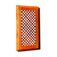 Omega National LATHIDA3624, Machined Wood Door Insert, Large Diagonal Lattice Door Insert, 24 W x 36 H x 5/16 Thick, Hickory