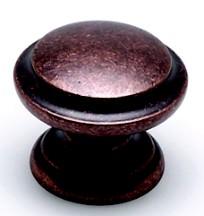 Berenson 2977-1RC-C Round Ring Knob, dia. 1-3/8, Rustic Copper, Euro Rustica