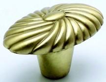 Berenson 0021-1SB-P Oval Knob, Length 1-5/8, Satin Brass, Atlantis