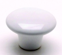 Berenson 4970-539-P Round Plain Knob, dia. 1-1/2, White, Lexington