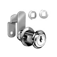 CompX C8075-C390A-14A Cam Lock, 90 & 180° Cam Turn, Flush or Lipped/Overlay, Cylinder 1-7/16, Max 1-1/8, Keyed #390, Bright Nickel