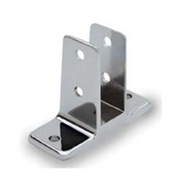 Jacknob 15430, Toilet Partition Zamak Urinal Screen Bracket Kit, Two Ear, Designed for 1in Thick Panels, Chrome