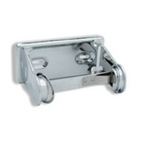 Jacknob 7359, Toilet Partition Tissue Holders, Single Type, 2-11/16 H x 5-7/8 L, Proj: 4in, Screw Hole Center: 3-1/2, Chrome