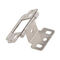 Amerock PK3180TG9, Full Inset, Partial Wrap, Free Swinging Hinge, Flat Tip for 3/4 Thick Doors, Sterling Nickel