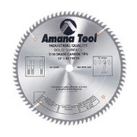 Amana Tool MD10-728 16in Solid Surface Saw Blade, 108T, MTC, 0-deg, 5/8 Inch Bore
