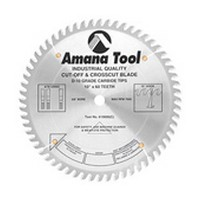 Amana Tool MD12-800 12in Cut Off and Cross Cut Saw Blade, HD, 80T, ATB, 10-deg, 5/8 Inch Bore