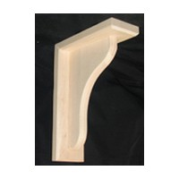 CVH International B-3-RW, Machined Wood Bar Bracket Corbel, 3 W x 7-1/2 D x 10-1/2 H, Rubberwood