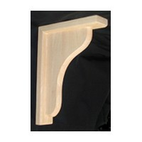 CVH International B-2-RW, Machined Wood Bar Bracket Corbel, 2 W x 7-1/2 D x 10-1/2 H, Rubberwood