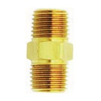 Milton 646, Fitting, Brass, Male Hex Nipple, 1/4 x 1/4