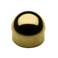 Lavi 00-602/1H, Bar Railing, Half Ball End Caps, Solid Brass, 1-1/2 D x 3/4 H, Fits Railing dia.: 1-1/2, Bright Brass