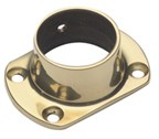 Lavi 00-531/2, Bar Railing Cut Flanges, Solid Brass, 4 Dia. x 2-1/2 W, Fits Railing dia.: 2in, Bright Brass
