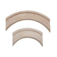 Waddell 3141-BCH-DP Bulk-40, Wood Small Corner Arch, 1-1/4 Radius, Groove Type, 3/4 W x 2-1/4 L x 1/4 Thick, Beech