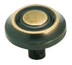 "Amerock CM728AE Bulk-200, Antique English 1-1/4"" Knob, Zinc Die Cast, Centers 1-1/4"""