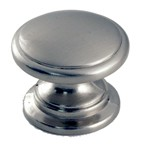 WE Preferred B55050SN Round Plain Knob dia. 1-1/4, Satin Nickel, MP973-SN
