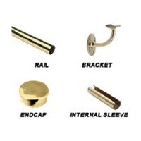 Lavi 44-FR1008/2, Bar Railing Kit, Stainless Steel, 2 x 48