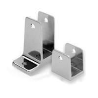 Jacknob 15050, Toilet Partition Zamak Panel Bracket Kit, One Ear, Designed for 1in Thick Panels, Chrome
