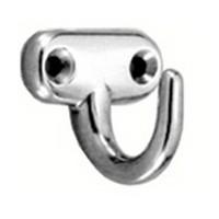 Sugatsune EP-40, Stainless Steel Coat Hook, Utility Hooks, Single Prong-1-17/64 Proj, 1-19/64 H, Load Capacity: 44lb, Mirror Stainless Steel