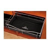 Rev-A-Shelf CBL-181418-B-3, Closet Basket Cloth Liner, 18 W x 14 D x 18 H, Black