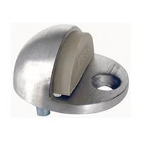 Allegion US 44074123470, Aluminum Door Stop, Floor Mount, 1-3/4 x 2in Oval, 1in Projection, Aluminum