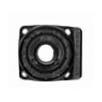 "Plastic Screw Mount Socket  Big Foot Series 2"" W x 1-7/8"" D Black Hardware Concepts 5920-000"
