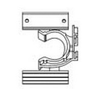 Hardware Concepts 5897-000, 2-Finger, Toe Kick Clip with Spline & Screw Mount, Black