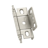 Amerock CM3175TMG9, Full Inset, Full Wrap, Free Swing Hinge, Minaret Tip for 3/4 Thick Doors, Sterling Nickel, 50/Pack