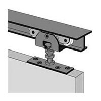 Hettich 113 334 800, 72in Sliding Joining Door Track Set, 3/4 Thick Doors, 150lb Cap, Top Plate Mount