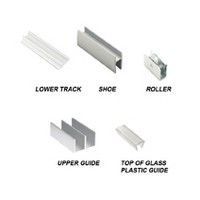 Engineered Products (EPCO) 14-A-3 36in Aluminum Sliding Glass Door Hardware Set for By-Passing 1/4 Glass Doors