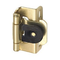 Amerock CM87193 Bulk-100 Pairs, Single Demountable, Partial Wrap, Self-closing Hinge, 1/2 Overlay, Bright Brass