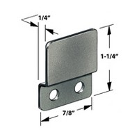 CompX Timberline SP-258-1 Timberline Lock Accessories, Strike Plate for Double Door Locks, Bright Nickel
