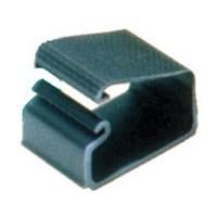 Custom Plastics CPF-3110, 2 L Plastic, Wire Channel Clips, Black, 100-Pack