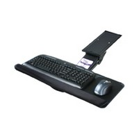 Knape and Vogt KV SD-14, Keyboard Arm and Tray with Palm Rest and Mouse Platform, Keyboard Tray Size 10 W x 25 L, Black