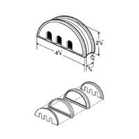 Hardware Concepts 6374-014, Half Circle Plastic 4-Piece, Partition Grommet, Liner Depth 3/4, Black