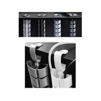 Custom Plastics CPF-03-77-01-GF, Floor-To-Work Surface Wire Managment, Vertebra Series, Graphite