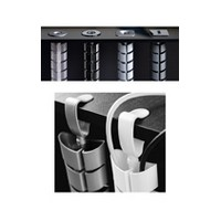 Custom Plastics CPF-03-77-01-TR, Floor-To-Work Surface Wire Managment, Vertebra Series, Clear