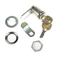 CompX M5-7054L-14A, Removacore Unassembled Cam Locks, Cylinder Assembly Only, 90° Cam Turn, Cylinder 1-7/16 L, Max Thickness 1-1/8, Bright Nickel