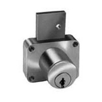 CompX C8178-KD-26D, Pin Tumbler Deadbolt Lock for Drawers, Surface Mounted, Cylinder Length 7/8, Bolt Travel 3/4, Keyed Different, Satin Chrome