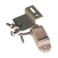 Amerock CM9765FPT Bulk-100, 15/16 L, Plastic Single Magnetic Catch with Strick Plate, Pull Force 5lb, Tan
