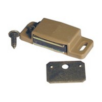 Amerock BP9793PT, 2 L, Plastic Single Magnetic Catch with Strick Plate, Pull Force 10lb, Tan