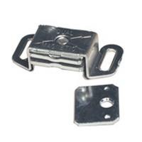 Amerock CM9783AL Bulk-200, 2 L, Aluminum Single Magnetic Catch with Strick Plate, Pull Force 7.5lb, Aluminum