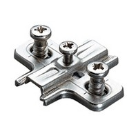 Salice B2VGH39/17, 3mm Steel Mounting Plate, Pre-mounted Euro Screws