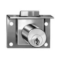 CompX C8131-915-26D, Springbolt Lock for Drawers, Mortise Type, Cylinder Length 7/8, Bolt Travel 7/32, Keyed #915, Satin Chrome
