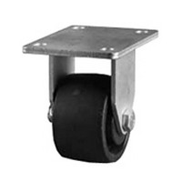 DH Casters C-BU3P2NR, Plate Mount Swivel & Rigid Caster Without Brake, Low Profile, HD, 3in, 440lb Capacity, Plate Size 3-1/4 x 4-1/4