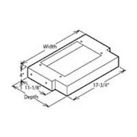 VMI 9092 BK 30 W T-Shaped Hood Liners, Air Pro, Black