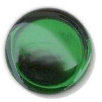 Glace Yar GYKR-EMRBR1, Round 1in dia. Glass Knob, Solid Color, Emerald Green, Brass