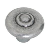 Hi Line HL19.2421.58, 37mm Antique Pewter Knob, Antique Pewter